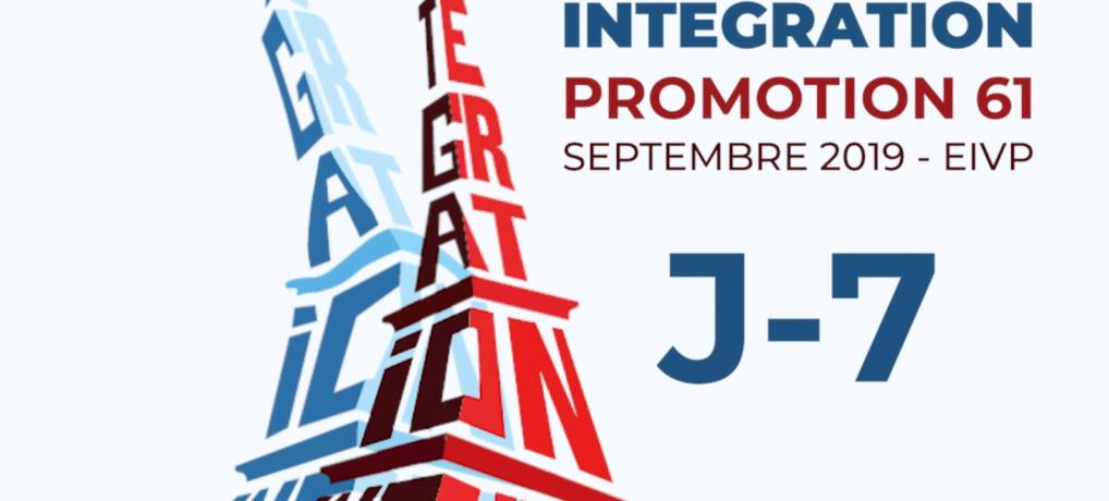J-7 pour l'intégration 2019